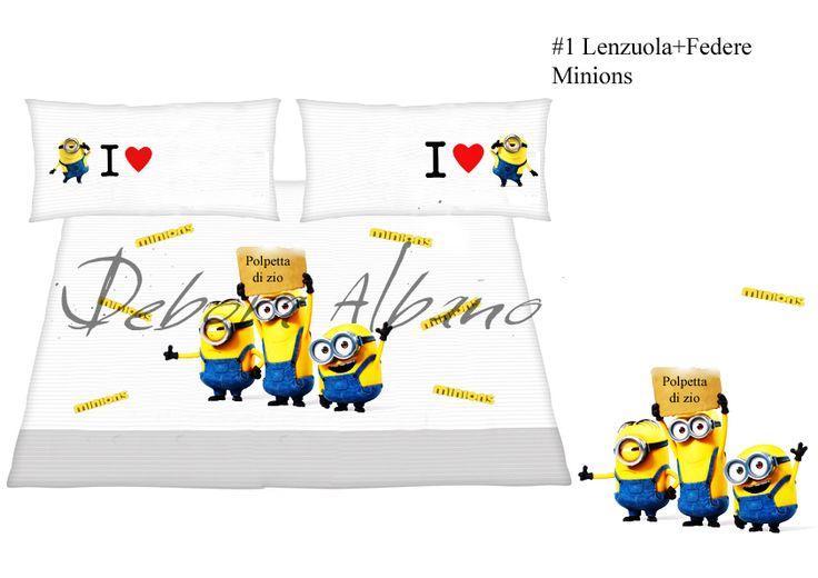 #1 Lenzuola+Federa Minions Progetto