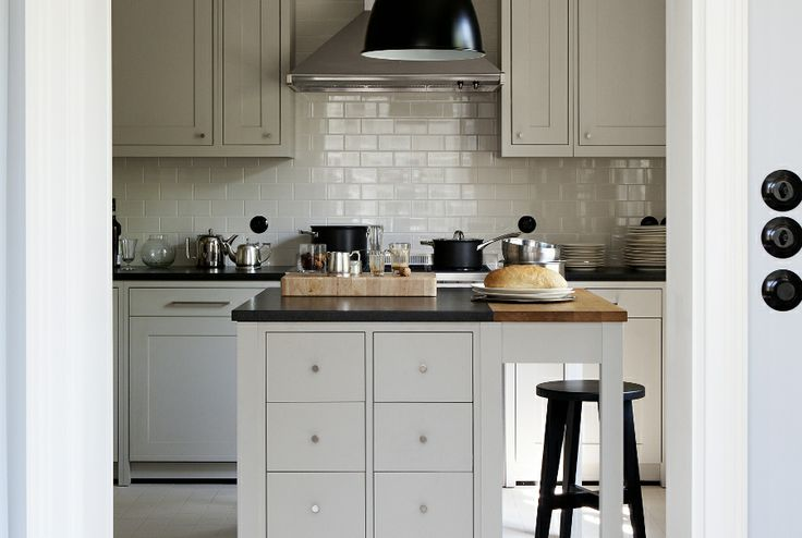 kitchen furniture / materials: wooden board, Benjamin Moore paints