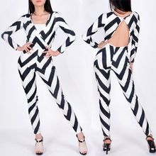 Women Jumpsuit Bodycon Strip Long Sleeve One piece Stretch Rompers SV002230 Best Seller follow this link http://shopingayo.space