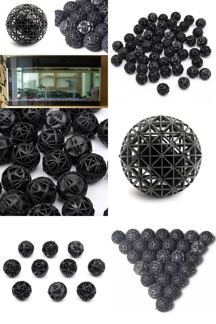Pack Black Plastic Spongia Aquariums Accessories  Biological Bio Balls