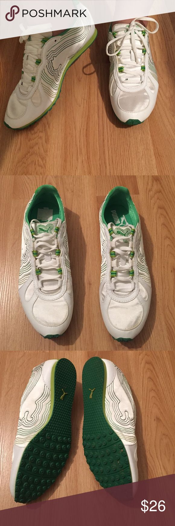 Puma sneakers ❤️ Puma sneakers worn only once. Excellent condition!! Rubber sole. Still has it's original price label. Puma Shoes Sneakers