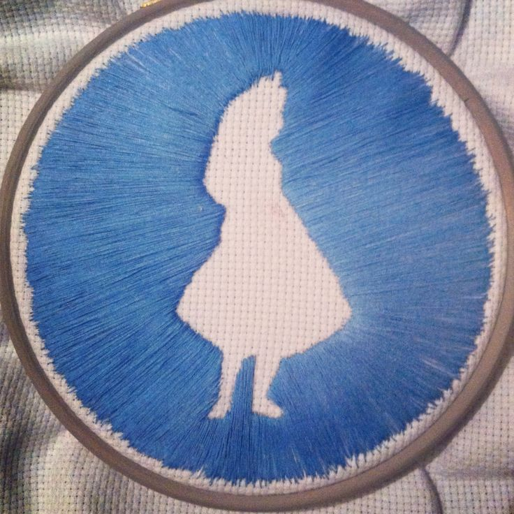 Purchased a pendant on etsy that could have open from behind and embroidered the silhouette of my initial with ombré blue thread. Now I can wear my craftiness!