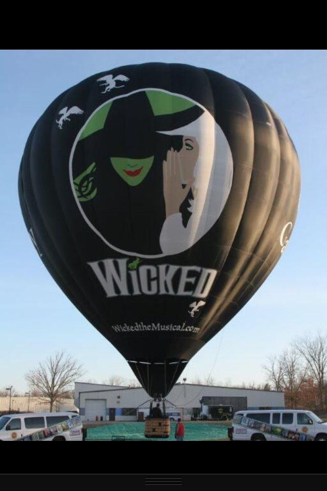 Wicked hot air ballon from Arizona festival