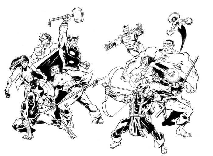 Coloring Pages Of All The Avengers - #avengers #coloring # ...