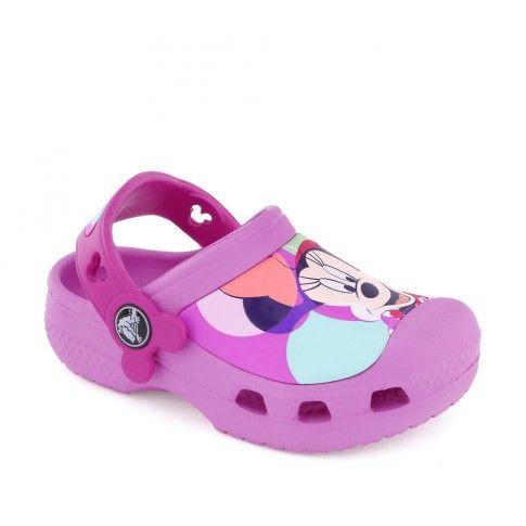 Sandale plaja fete Minnie Colorblock Pink - Crocs