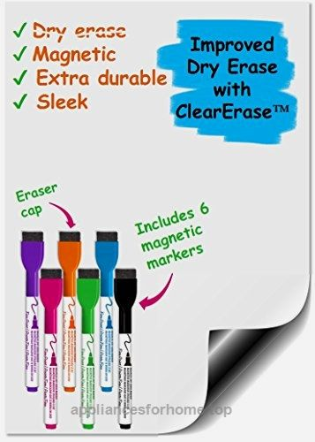 Premium Magnetic Dry Erase Whiteboard Sheet 17″ x 11″ Great for Fridge! Includes a Set of 6 Markes  Check It Out Now     $19.99    Apply this magnetic dry erase white board to your refrigerator and any kitchen appliance so that everyone can see wha ..  http://www.appliancesforhome.top/2017/04/09/premium-magnetic-dry-erase-whiteboard-sheet-17-x-11-great-for-fridge-includes-a-set-of-6-markes/