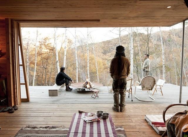 Shin Ohori of General Design Co.   Setsumasa and Mami Kobayashi's weekend retreat (photo by Dean Kaufman)