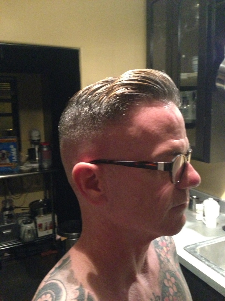 Razor fade pompadour side part More - Most Popular New