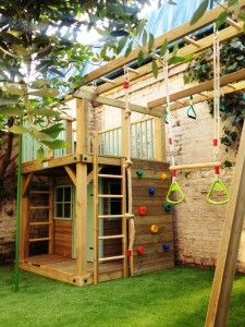 Bespoke wooden playhouses - like all the extras on this one