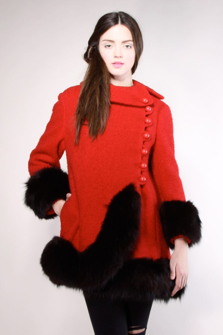 best vintage i like images on pinterest  winter coats faux  - shop vintage  s fox fur princess coat  thrifted  modern