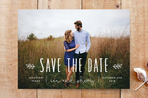 Homegrown Save The Date Cards by Sara Malone at minted.com
