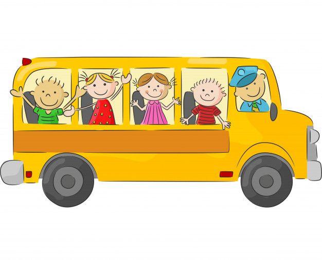 Caricatura Crianca Em A Amarela Autocarro Caricatura Criancas Fundos De Tela Iphone