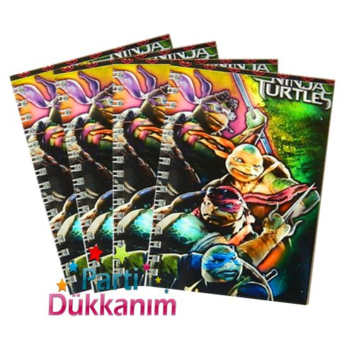 Ninja Turtles Not Defteri 4 Ad (9x13 cm) 50 s fiyatı
