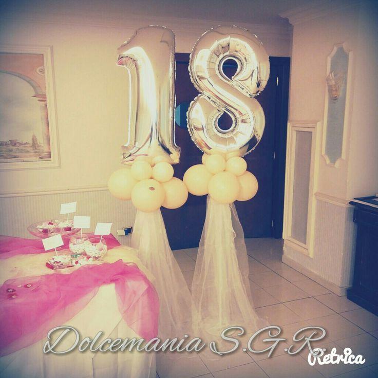 #dolcemania #palloncini #puglia #italy #elegance #top #diciotto #eighteen #argento #blush #gargano #sangiovannirotondo #allestimenti #tulle #best