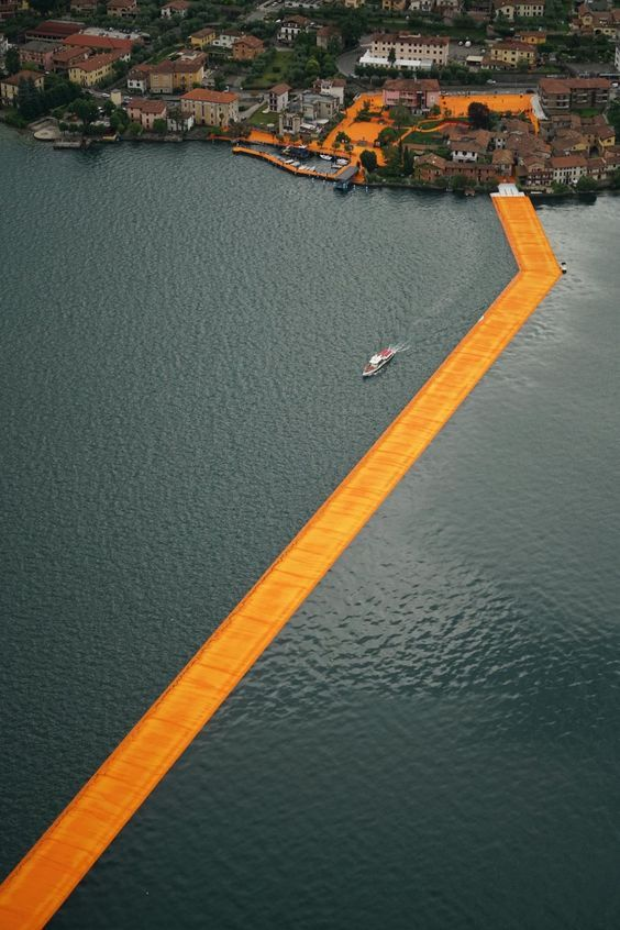 The Floating Piers, Lake Iseo, Italy