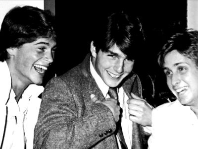 Oh wow...Rob Lowe, Tom Cruise, and Emilio Estevez in what must be the early '80's.  They all have such baby faces!