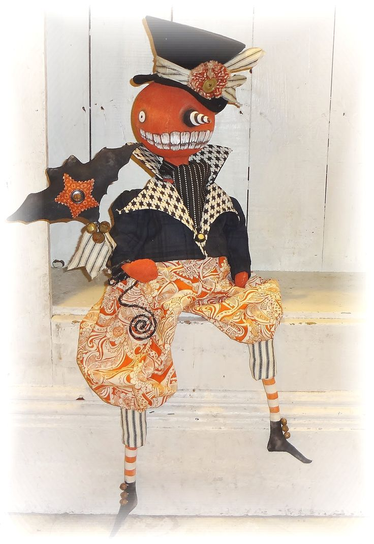Jack O Lantern doll on eBay.  http://www.ebay.com/sch/thepixiesthimble/m.html?item=122095494222&ssPageName=STRK%3AMESELX%3AIT&rt=nc&_trksid=p2047675.l2562