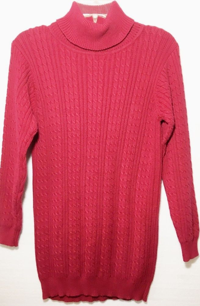 13009449c5 Petite Sophisticate Women s Turtleneck Sweater- Ribbed Knit- Red- Size P-  Small  fashion  clothing  shoes  accessories  womensclothing  sweaters  (ebay link)