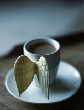Do angels prefer tea, coffee or hot chocolate?    My Grandfather would leave a glass of water for the angels in the bathroom every night. There is an amazing story of his brother's death behind his unfailing ritual.