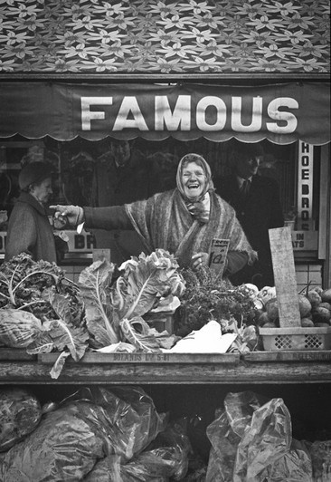 Street traders on Dublin's Moore Street, by unknown author.