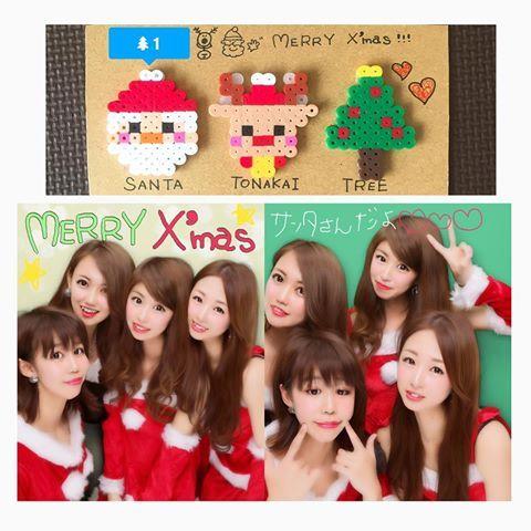#クリスマス会 の#余韻 続く。(仕事進まない)  #クリスマス 当日に集まれた#記念 に#サンタコス して、初キリオでいつぶりかの#プリクラ も撮ったよ!そしてもちろん、みんなに#アイロンビーズ も作ってあげたよ! っていう写真( ◜௰◝ )♥️ #メリークリスマス  #Xmas #christmas #xmasparty #homeparty #女子会 #Party #プレゼント #冬休み #ironbeads #アイロンビーズ部 #サンタクロース #トナカイ #ツリー #保育者