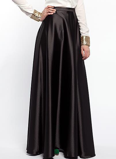 Длинная атласная юбка купить