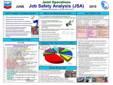 Best Risk Assessment Jsa And Hazard Spotting Risk