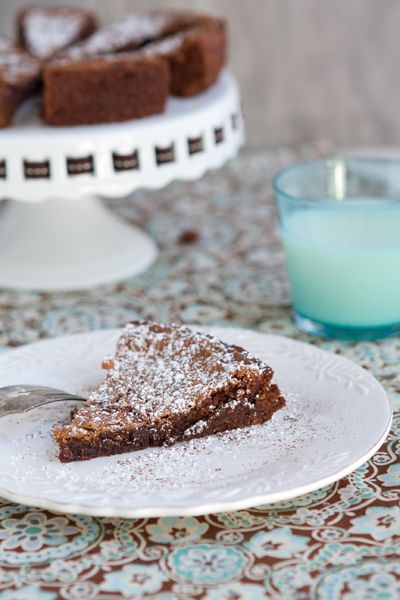 Four Minute Brownie Pie - A quick dessert you can put together with things you probably have in your pantry.