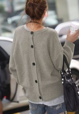 sweater buttons up the back!  so cute