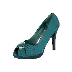 Teal high heels...with black bridesmaids dresses. yes!! :D