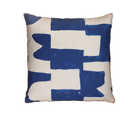 Block Blue Cushion 50cm x 50cm - $145.00 - This hand painted royal Blue and Nude cushion from Hunting For George is perfect for adding a pop of colour to any space. It is designed, printed and hand-made in Australia. If you are looking for a beautifully designed cushion and don't mind spending a little bit more then this one is for you! Visit Style + Space's blog for more design inspiration and to receive my free e-book '7 ways to create a calm home space'.