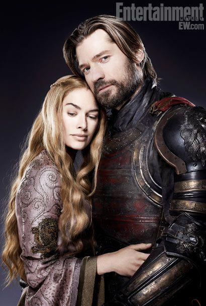 Lena Headey (Queen Cersei Baratheon) and Nikolaj Coster-Waldau (Jaime Lannister) S02