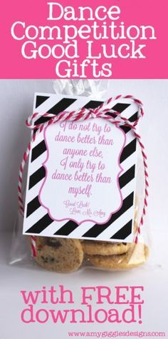 Dance Competition Good Luck Gifts with FREE download www.amygigglesdesigns.com