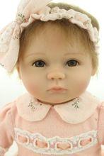 18 pulgadas realista renacida bebé de silicona suave vinilo real touch muñeca precioso bebé recién nacido(China (Mainland))