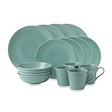 image of Gordon Ramsay by Royal Doulton® Maze 16-Piece Dinnerware Set in Teal
