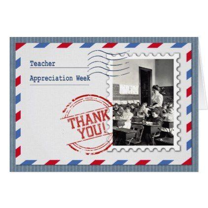 #vintage - #Teacher Appreciation Week  Custom Greeting Cards