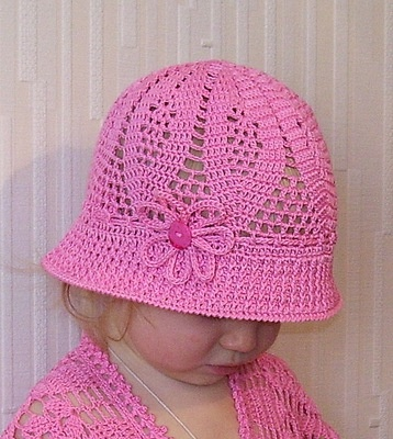 Hat with diagrams.  Sweet and adorable.