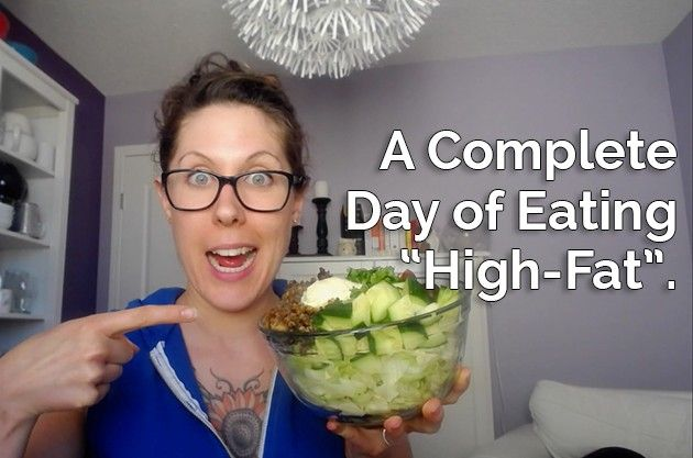 """A Complete Day of Eating """"High-Fat""""   Healthful Pursuit"""