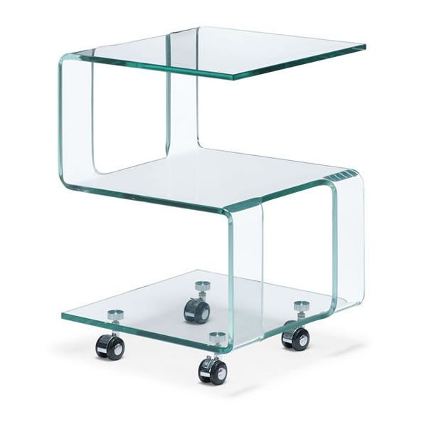 Zuo Magellan Clear Side Table   Contemporary   Side Tables And Accent Tables      By Euro Style Lighting