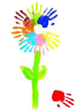 Baby hands hand prints and flower on pinterest for Hand and feet painting ideas