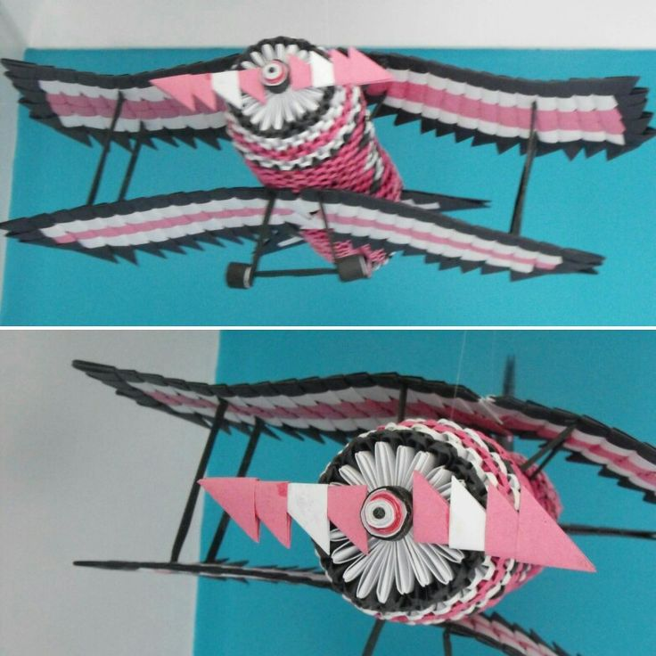 3d origami airplane