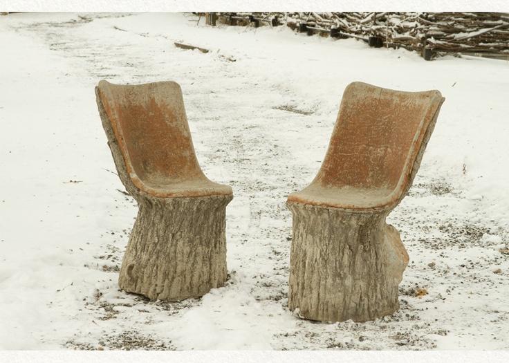 Faux Bois Garden Chairs