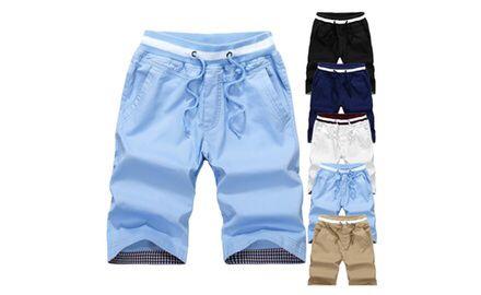 Buy 2017 summer men s shorts leisure cotton 5 points pants Slim beach pants  at Wish - Shopping Made Fun 3e5375c060d