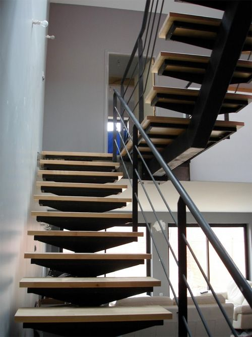 1161 best escalier images on pinterest stairs architecture and stair design - Escalier a limon central ...
