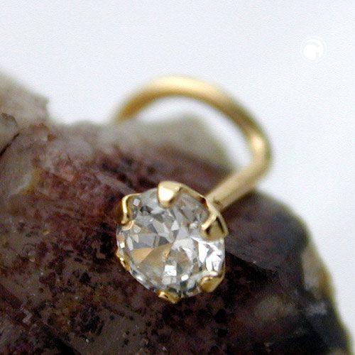 Nässmycke vit Zirconia 18K Guld