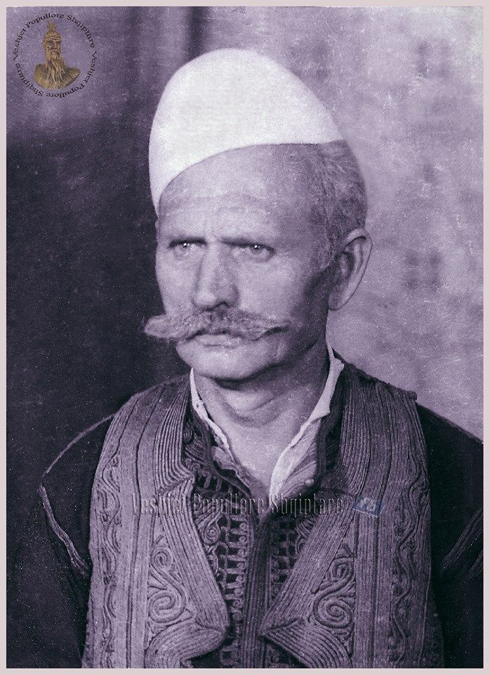 Portrait of an Albanian man from Fierzë (northern Albania), ca. early 20th century.