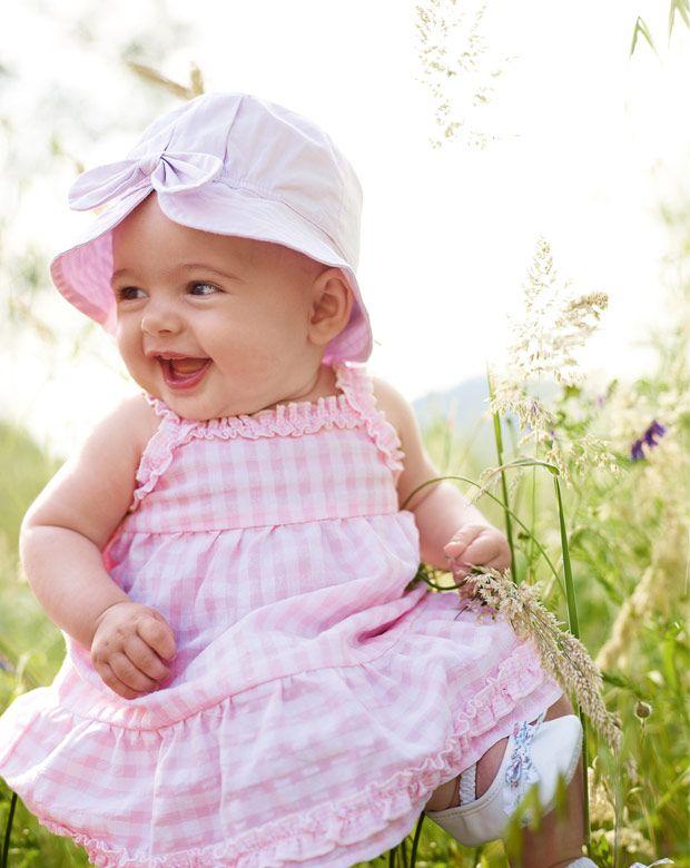 Benetton baby pink gingham
