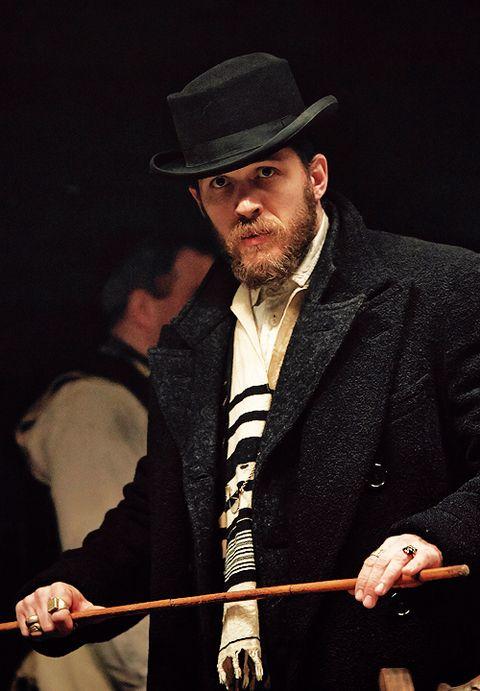 Peaky Blinders: Tom Hardy as Alfie Solomons, wearing a tallit