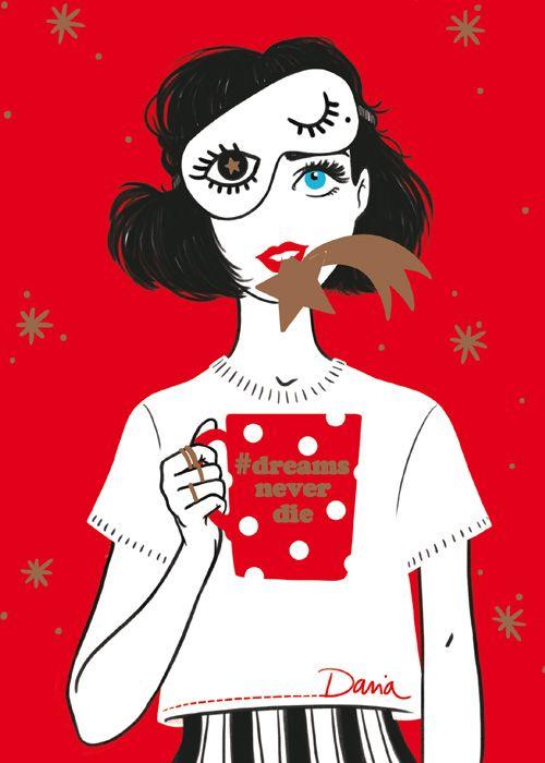 Daria Piromalli #dreamneverdie  illustratrice, agence Marie Bastille // cette image appartient à son auteur et/ou l'agence Marie Bastille + d'infos sur le site //