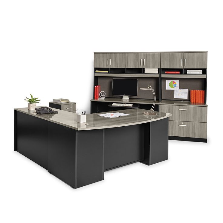 Sauder Via In Gray Executive Office Suite Officefurniture